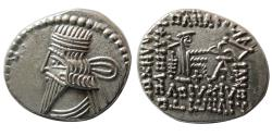 Ancient Coins - KINGS of PARTHIA. Pakoros I. Circa AD. 78-120. AR Drachm.