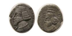Ancient Coins - KINGS of PARTHIA. Phraatakes with Musa. 2 BC.- AD. 4/5. AR Drachm. Susa mint. Rare.