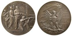 World Coins - SWITZERLAND. Shooting Festival Medal. ca. 19th. Century. Silver Medallion. dated 1898.