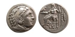 Ancient Coins - KINGS of MACEDON, Alexander III. 336-323 BC. Silver Drachm.  struck under Philip III, Magnesia ad Maeandrum