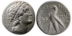 Ancient Coins - PTOLEMAIC KINGS. Ptolemy VI.  Second sole reign, 163-145 BC. AR Tetradrachm. Paphos mint.