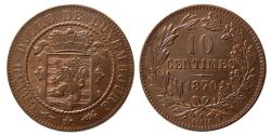 World Coins - LUXAMBURG. 10 Centimes . KM 23.1. Lovely brown reddish patina.