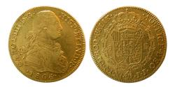 World Coins - SPANISH COLONIAL, Mexico. Carlos IIII. 1788-1808. Gold 8 Escudos.