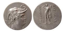 Ancient Coins - BAKTRIA, Greco-Baktrian Kingdom, Demetrios I. Circa 200-185 BC. AR Tetradrachm.