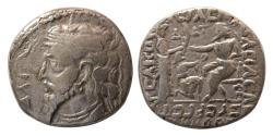 Ancient Coins - KINGS OF PARTHIA. Artabanus IV. Circa AD 10-38. Silver Tetradrachm. dated SE 334 (23 AD.) Rare.