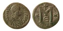 Ancient Coins - BYZANTINE EMPIRE. Anastatius I. 491-518 AD. Æ Follis.