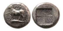 Ancient Coins - THRACE, Byzantion. Circa 357-340 BC. AR Tetradrachm. Rare.