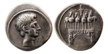 ROMAN EMPIRE. Octavian. 30-29 BC. AR Denarius.