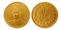 World Coins - QAJAR DYNASTY. Naser al Din Shah.1264-1313 AH. (1848-1896). Gold Toman.