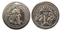 "Ancient Coins - SASANIAN KINGS. Ardashir I. AD 223/4-240. Silver Drachm. ""Ctesiphon"" mint. Choice FDC.  Lustrous."