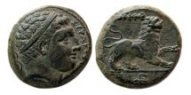 Ancient Coins - SICILY, Syracuse. Circa 317-289 BC. Æ 21mm. Lovely strike.