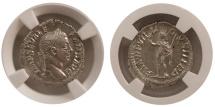 Ancient Coins - ROMAN EMPIRE. Severus Alexander. 225-235 AD. AR Denarius. NGC Choice MS.