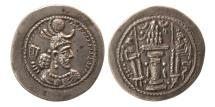 Ancient Coins - SASANIAN KINGS. Yazdgard I. AD. 399-420. Silver Drachm. Lovely strike.