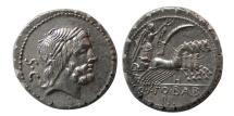 ROMAN REPUBLIC. Q. Antonius Balbus. 83-82 BC. Silver Denarius.