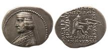 KINGS OF PARTHIA. Phraates III. 70/69-58/7 BC. AR Drachm. Lovely strike.