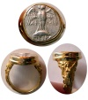 Ancient Coins - PONTOS, Amisos. 5th-4th century BC. AR Siglos. Set in a Custom-made 18K. Gold Ring. Ring Size 11.