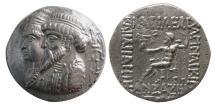 Ancient Coins - KINGS of ELYMIAS. Kamnaskires III and Anzaze. Circa 82/1-73/2 BC. AR Tetradrachm. Lovely Strike. Rare.