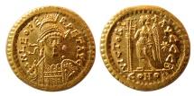 BYZANTINE EMPIRE. Leo I the Great. AD. 457-474. AV Solidus. Lovely strike. F.D.C. Full Luster.