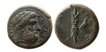 Ancient Coins - SICILY, Syracuse. Ca. 344-317 BC. Æ. Lovely strike.