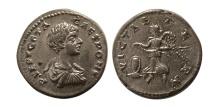 Ancient Coins - ROMAN EMPIRE. Geta as a Caesar. 198-209 AD. AR Denarius.