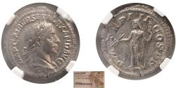 Ancient Coins - ROMAN EMPIRE. Severus Alexander. 222-235 AD. Silver Denarius. NGC-MS. Fully Lustrous.