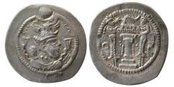 Ancient Coins - SASANIAN KINGS. Peroz, 3rd crown. AD. 457/9-484. Silver Drachm.