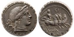 Ancient Coins - ROMAN REPUBLIC. C. Naevius Balbus. 79 BC. Silver Serrate Denarius. Lovely strike.