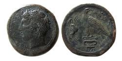Ancient Coins - SICILY, Akragas. Circa 400-380 BC. Æ Hemilitron. Rare.