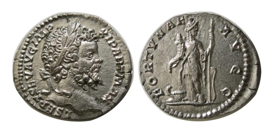 Ancient Coins - ROMAN EMPIRE. Lucius Septimius Severus. 193-211 AD. AR Denarius.