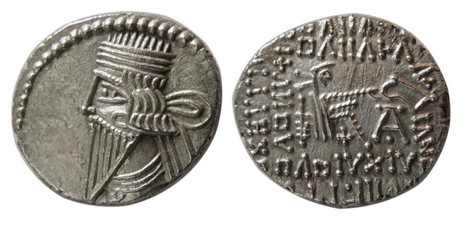 Ancient Coins - KINGS of PARTHIA. Pakoros I. Circa AD. 78-120. AR Drachm. Ekbatana mint.