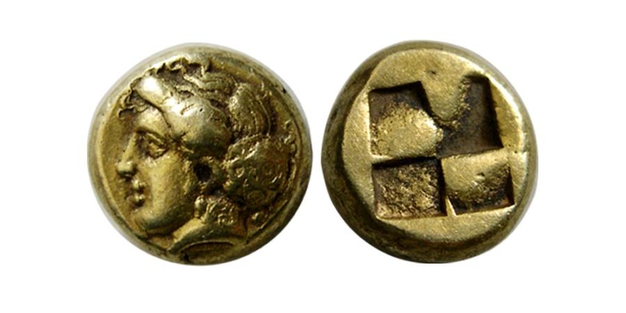 Ancient Coins - IONIA, Phokaia. Circa 387-326 BC. EL Hekte .