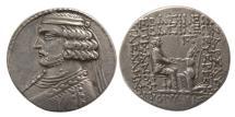 Ancient Coins - KINGS of PARTHIA. Orodes II. 57-38 BC. AR Tetradrachm. Seleukeia on the Tigris mint. Rare.