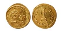 Ancient Coins - BYZANTINE EMPIRE. Heraclius with Heraclius Constantine.  AV solidus.