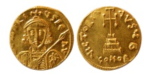 Ancient Coins - BYZANTINE EMPIRE. Tiberius III. 698-705 AD. Gold Solidus. Lovely strike. Choice FDC. Lustrous.