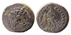 Ancient Coins - PTOLEMAIC KINGS of EGYPT. Ptolemy III Euergetes, 246-222 BC. Æ Dichalkon.