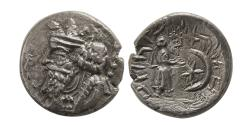 Ancient Coins - KINGS of PERSIS. Nambed (Namopat). 1st century AD. AR Hemidrachm.