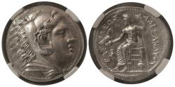 Ancient Coins - KINGS of  MACEDON. Alexander III. 336-323 BC. AR Tetradrachm. NGC-MS. Amphipolis mint.