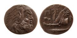 Ancient Coins - THRACE, Black Sea Area. Pantikapaion. Ca. Mid 4th. Century BC. Æ Unit.