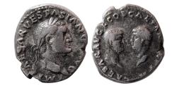 Ancient Coins - ROMAN EMPIRE. Vespasian. 69-79 AD. AR Denarius. Rare.