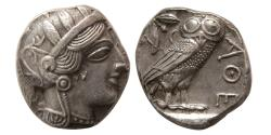 Ancient Coins - ATTICA, Athens. 440-404 BC. Silver Tetradrachm. Choice Superb EF. Sharply struck.