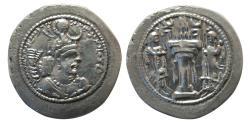 Ancient Coins - SASANIAN KINGS. Yazdgird I. 399-420 AD. Silver Drachm. BBA (Court, Ctesiphon) mint.