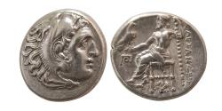 Ancient Coins - KINGS of THRACE, Lysimachos. 305-281 BC. Silver Drachm. Lampsakos mint. Very Rare.