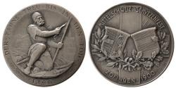 World Coins - SWITZERLAND. Shooting Festival Medal. ca. 19th. Century. Silver Medallion. dated 1900. Zofingen.