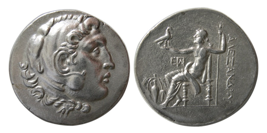 Ancient Coins - MACEDON, Kingdom of, Alexander III. 336-323 BC. Silver Tetradrachm. Very Rare.
