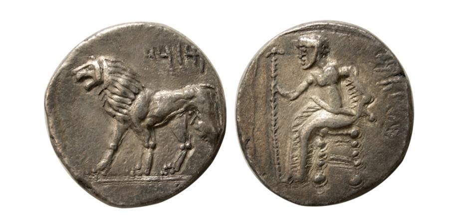 Ancient Coins - ALEXANDRINE EMPIRE. Mazaios. Satrap of Babylon, circa 331-328 BC. AR Tetradrachm. Very  Rare.