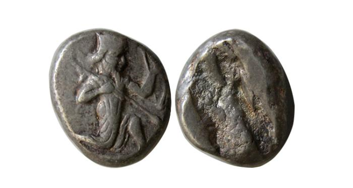 Ancient Coins - ACHAEMENID EMPIRE. Time of Darius I to Xerxes II. Ca. 485-420 BC. AR Siglos