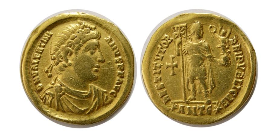 Ancient Coins - ROMAN EMPIRE. Valentinian I. 364-375 AD. AV Solidus.