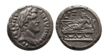 Ancient Coins - EGYPT, Alexandria. Antonius Pius. 138-161 AD. BI Tetradrachm. Dated RY 17 (AD 153/4). Scarce.