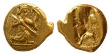 Ancient Coins - ACHAEMENID EMPIRE. temp. Dareios I to Xerxes II. Ca 485-420 BC. AV Daric. Lovely strike. FDC.