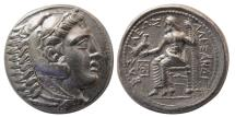 Ancient Coins - KINGS of MACEDON, Alexander III. 336-323 BC. AR Tetradrachm. Amphipolis mint. Lifetime issue.